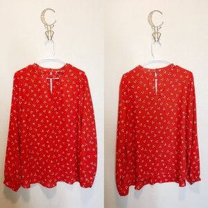 Collective Concepts Red Blouse Size 1X